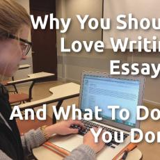 Why You Should Love Writing Essays – And What To Do If You Don't